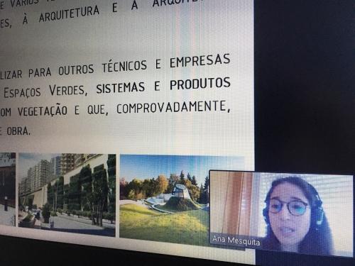 Palestra online na Unidade Curricular de Biotecnologia Verde