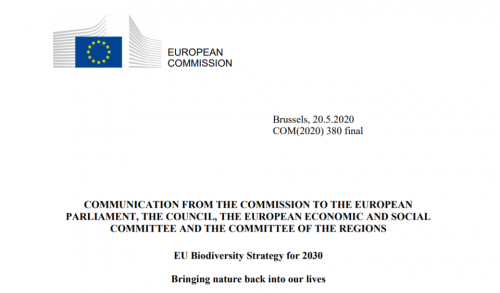COMMUNICATION FROM THE COMMISSION TO THE EUROPEAN PARLIAMENT - EU Biodiversity Strategy for 2030