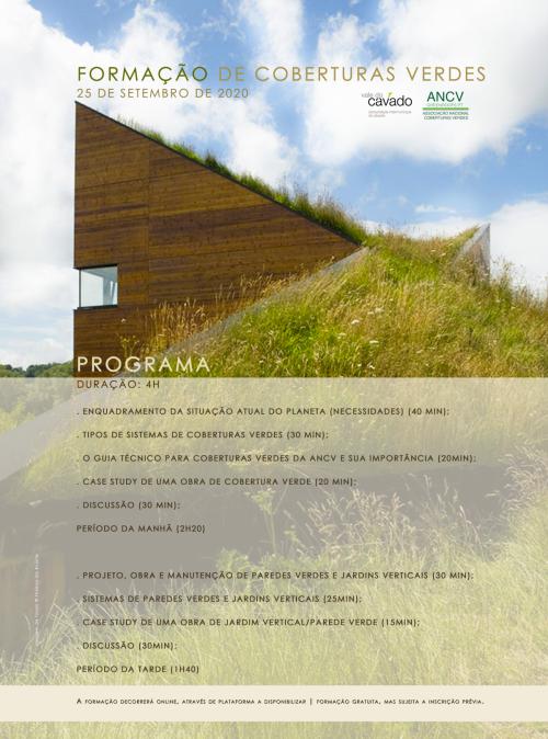 CIM Cávado promove Formação Online de Coberturas Verdes em Parceria com a ANCV | 25 de Setembro