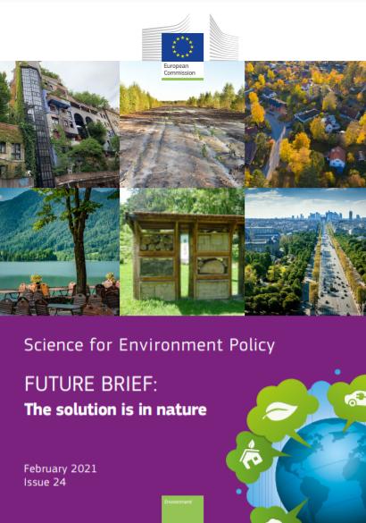 """""""The solution is in nature"""", fevereiro de 2021, número 24, da Comissão Europeia"""