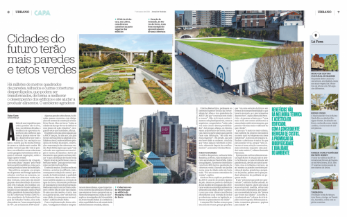 Interview to the national media - Cities of the Future will have more green roofs and walls