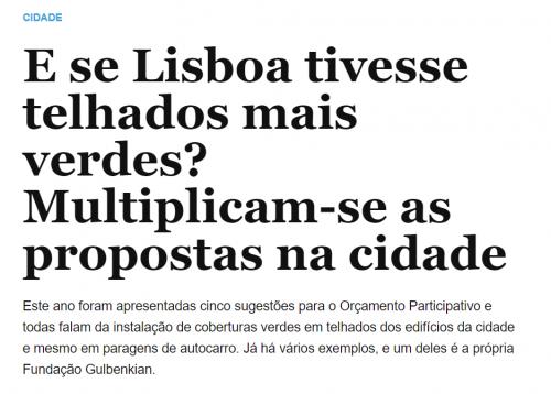 E se Lisboa tivesse telhados mais verdes? Multiplicam-se as propostas na cidade