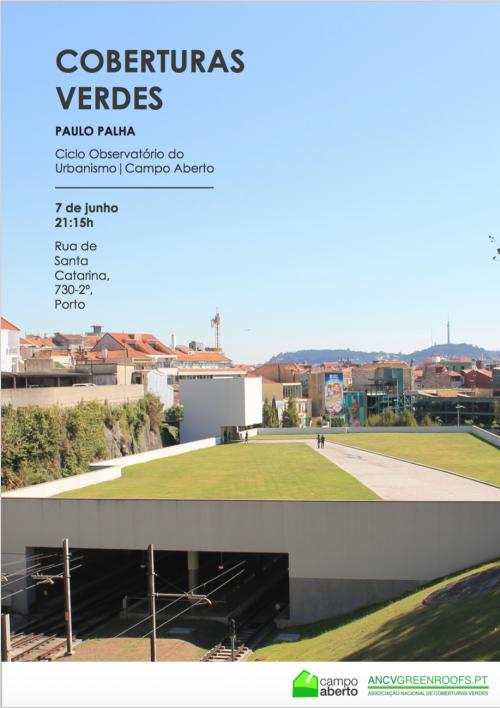 Tertúlia sobre Coberturas Verdes no Ciclo Observatório do Urbanismo da Campo Aberto